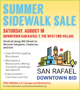 San Rafael BID Summer Sidewalk Sale 2018