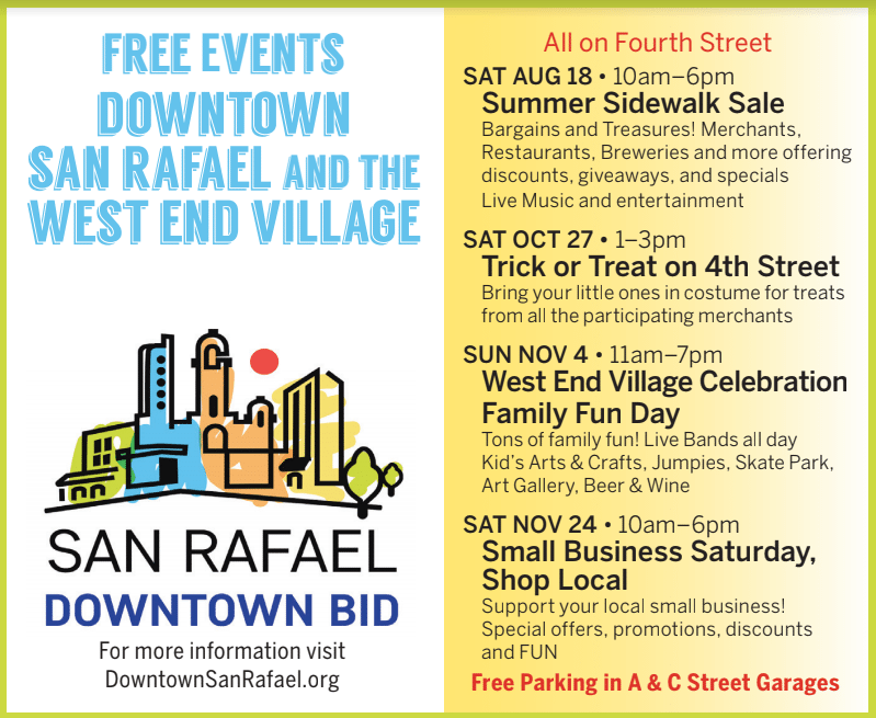 Free Events Downtown San Rafael West End Willage