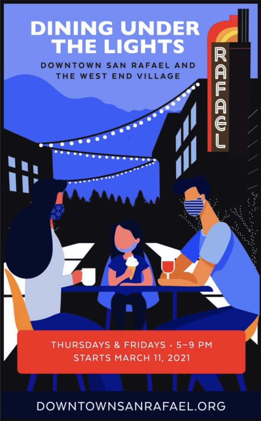 Dining Under The Lights Poster