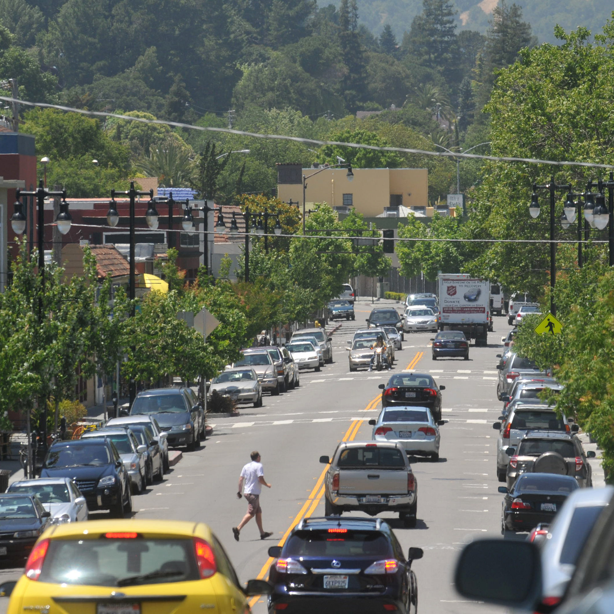 San Rafael City Council is collecting public comment on plans to expand downtown business improvement district, which will includes Fourth Street from E Street to the Miracle Mile. (IJ archive photo/Frankie Frost)