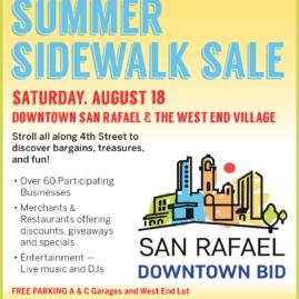 San Rafael BID Summer Sidewalk Sale 2018